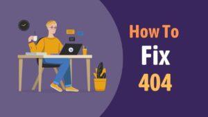 how to fix 404 error